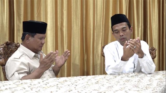 Ustadz Abdul Somad Memberikan Dukungan Kepada Prabowo-Sandi